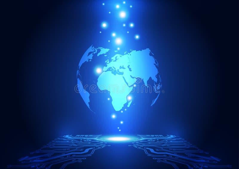 Abstract global network technology background, vector. Illusrtation stock illustration