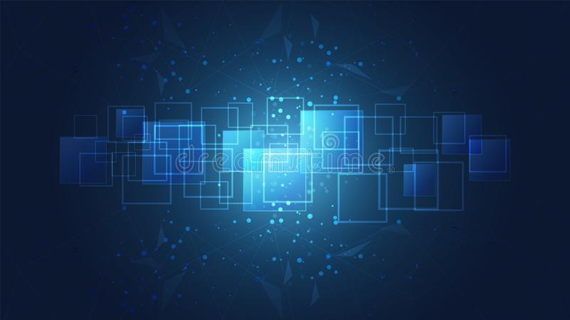 Abstract global technology with digital circuit boards background. stock illustration