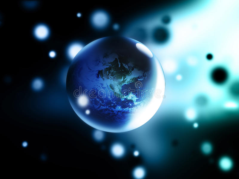 Abstract globe. Modern abstract background with abstract planet stock illustration