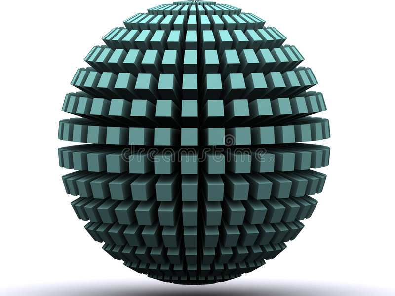 Abstract globe stock illustration