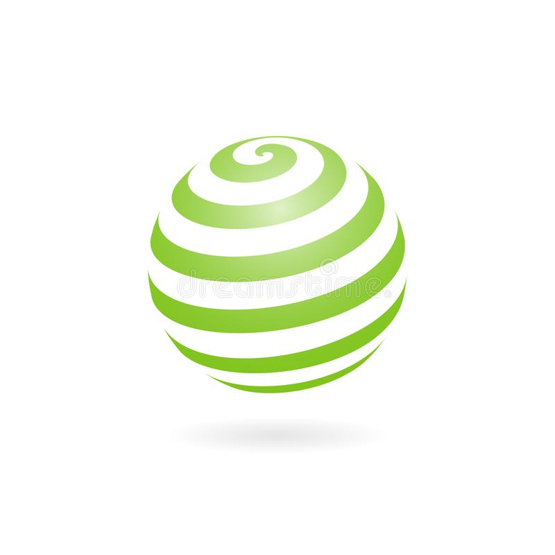 Dot Sphere Logo Template Globe Vector Icon: World Map With Earth Globe In Trendy 3d Design. 3d