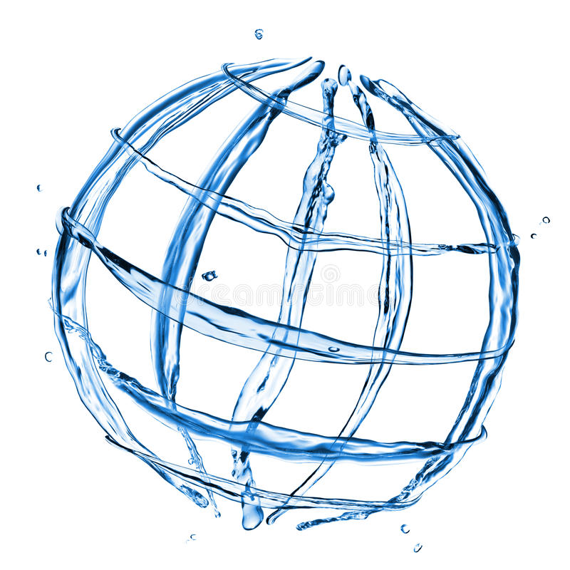 Free Abstract Globe From Water Splashes Royalty Free Stock Photo - 16529995
