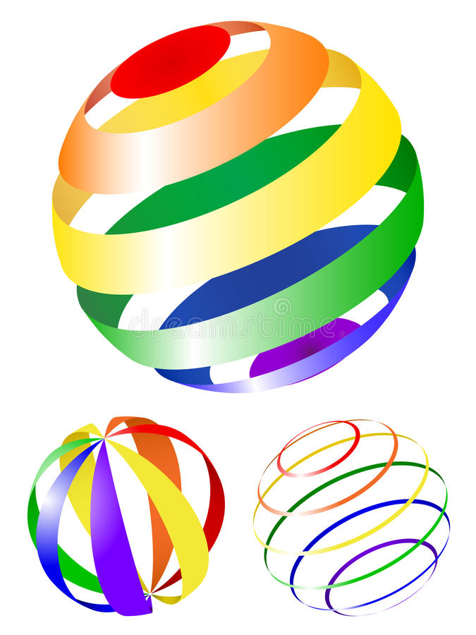 Abstract globe icons royalty free illustration