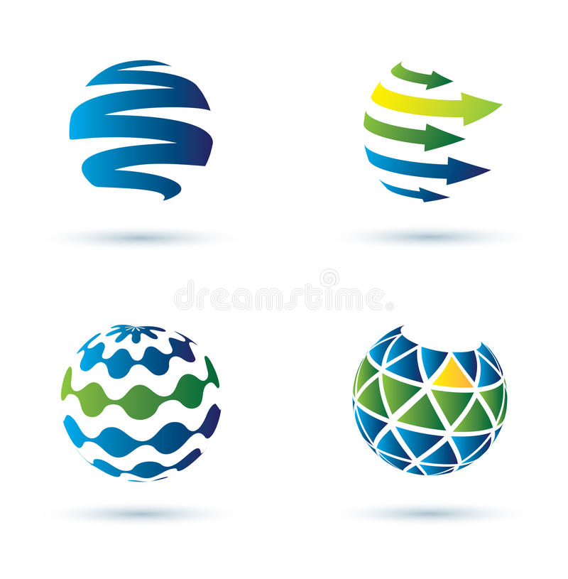 Free Abstract Globe Icons Stock Image - 26518901