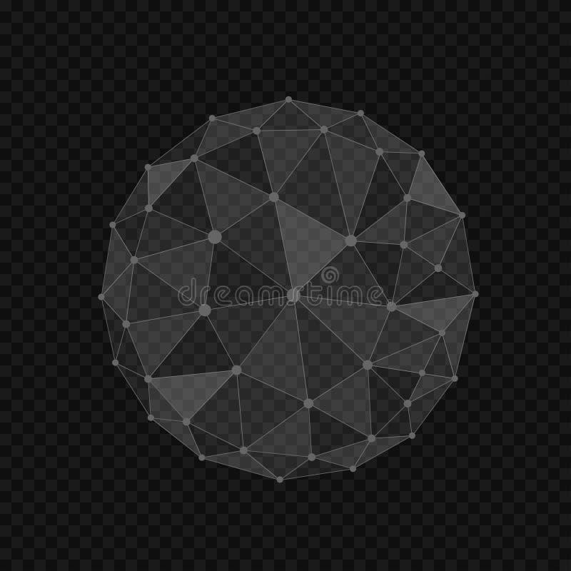 Abstract globe shape vector illustration