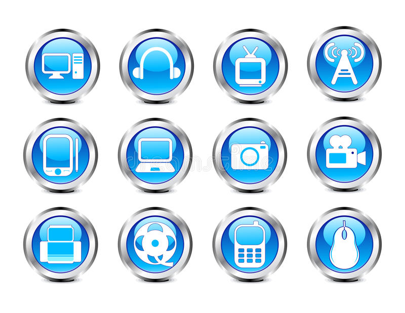 Download Abstract Glossy Electronic Icon Stock Vector - Illustration of camera, computer: 23020974