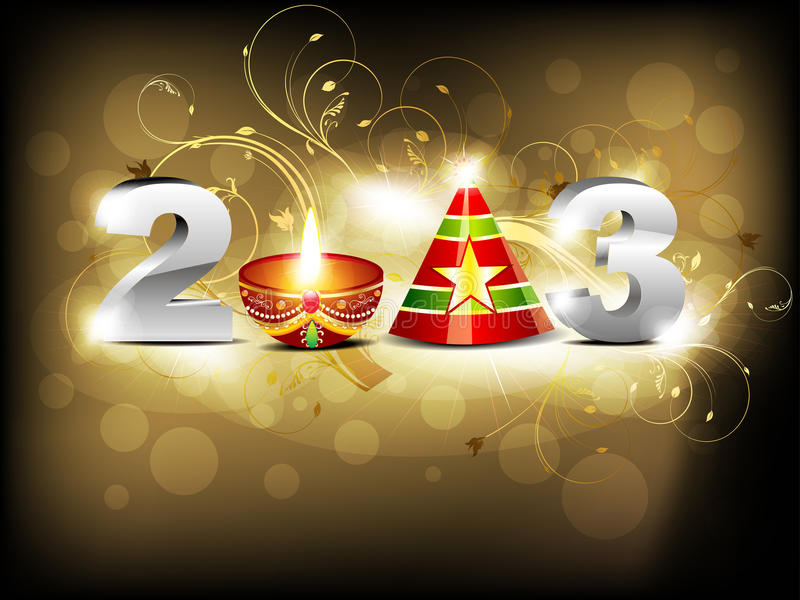 Abstract glossy new year wallpaper royalty free illustration