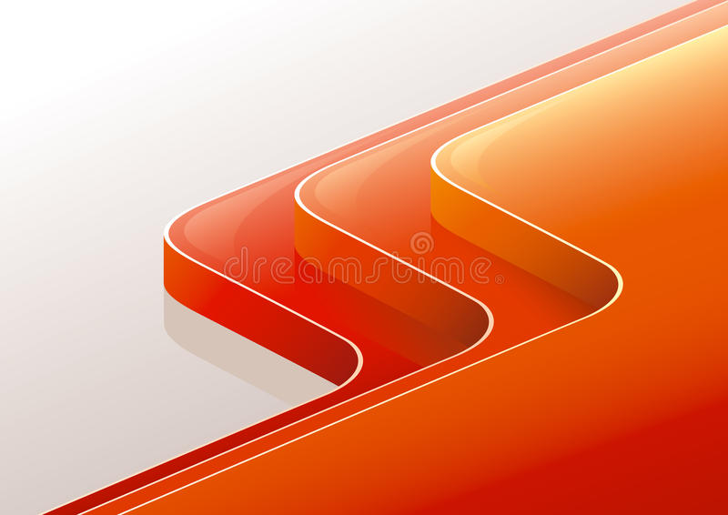 Download Abstract Glossy Red Orange 3D Perspective Steps. Stock Photos - Image: 19408933