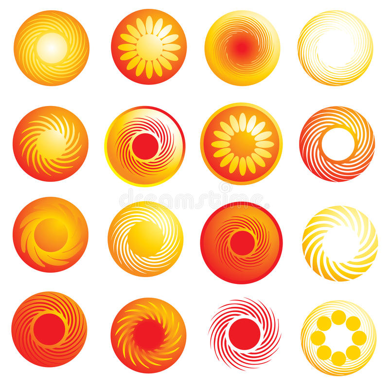 Download Abstract Glossy Sun Icons Stock Photography - Image: 11889832