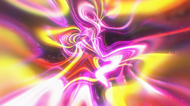 Abstract glow energy background with visual illusion and wave effects, 3d render computer generating. Abstract glow energy background with visual illusion and stock illustration