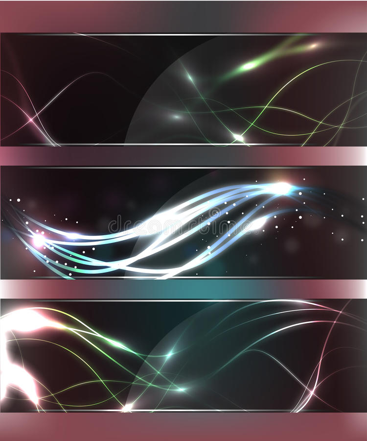 Download Abstract Glow Glass Banners Stock Vector - Image: 22141795