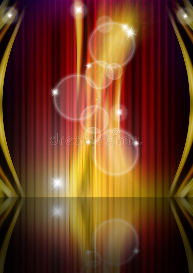 Abstract Glowing Background stock illustration