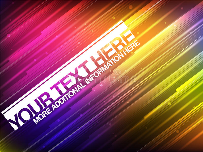 Download Abstract Glowing Banner With Colorful Stripes Stock Vector - Image: 30456423