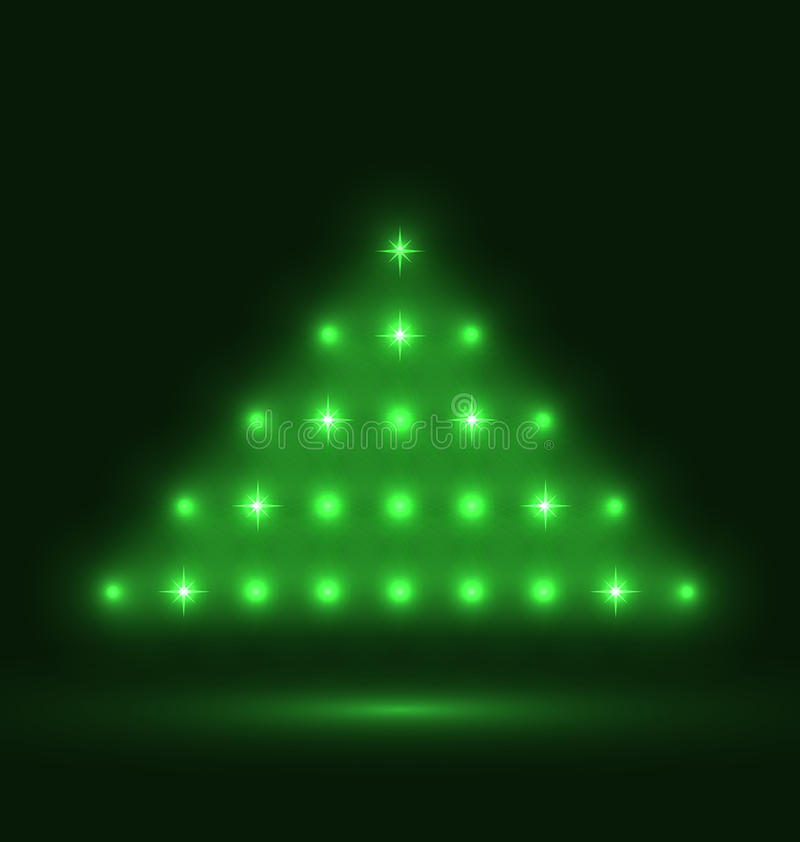 Abstract glowing christmas tree