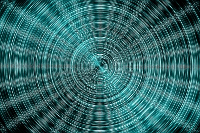 Abstract glowing concentric circles futuristic pattern. Big data processing. Sci-fi circuit design. Hi tech technology royalty free illustration