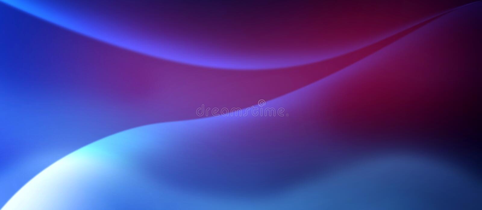 Abstract Shiny Curves in Blurred Purple, Blue and Red Background vector illustration