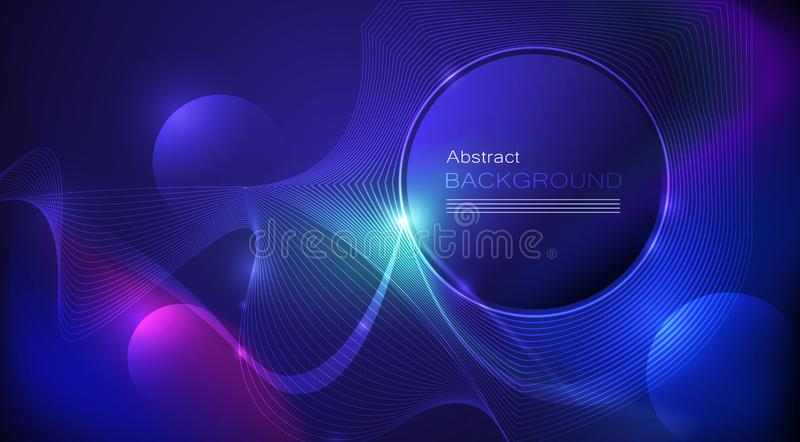 Illustration Abstract glowing, neon light effect, wave line, wavy pattern vector illustration