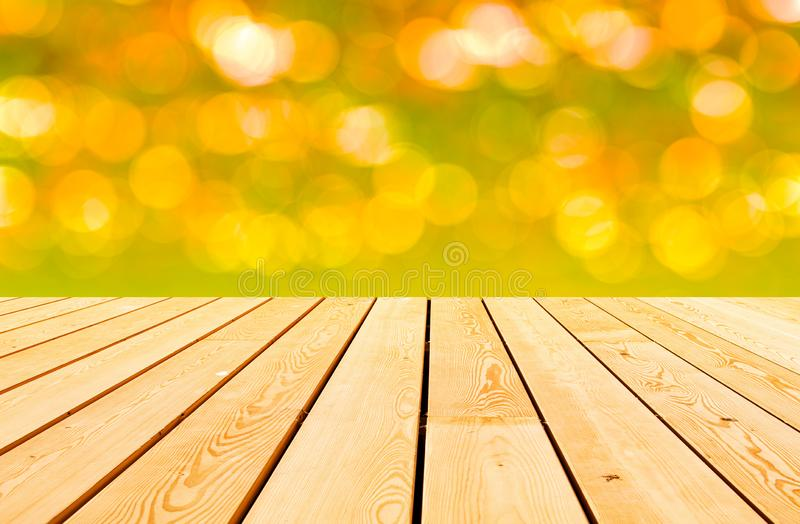 Abstract glowing shining light mockup wooden desk board surface. Abstract glowing shining light mockup wooden desk plank table board surface royalty free stock image
