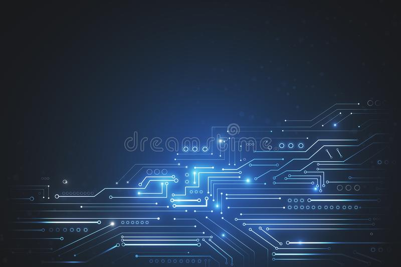 Abstract tech backdrop royalty free illustration