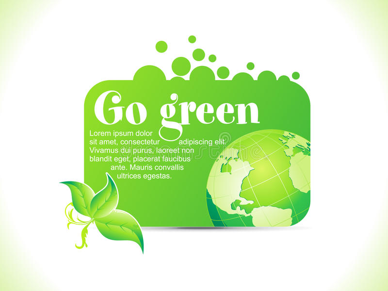 Abstract go green icon royalty free illustration