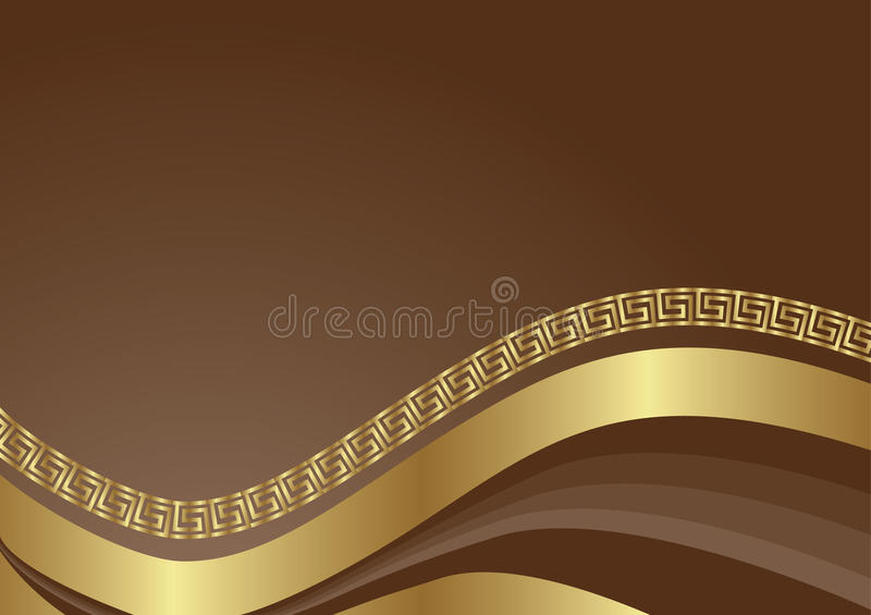 ABSTRACT GOLD royalty free illustration