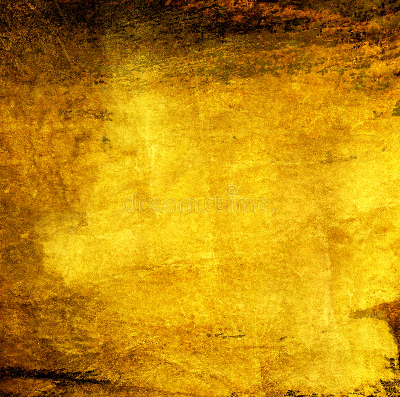 Abstract gold art grunge on dark background stock photos