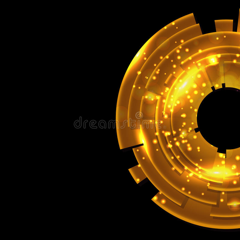 Download Abstract Gold Background With Black Copy Space. Stock Vector - Image: 28687401