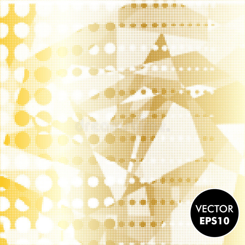Abstract Gold Background. Dotted Vector Illustration. Metal texture. vector illustration