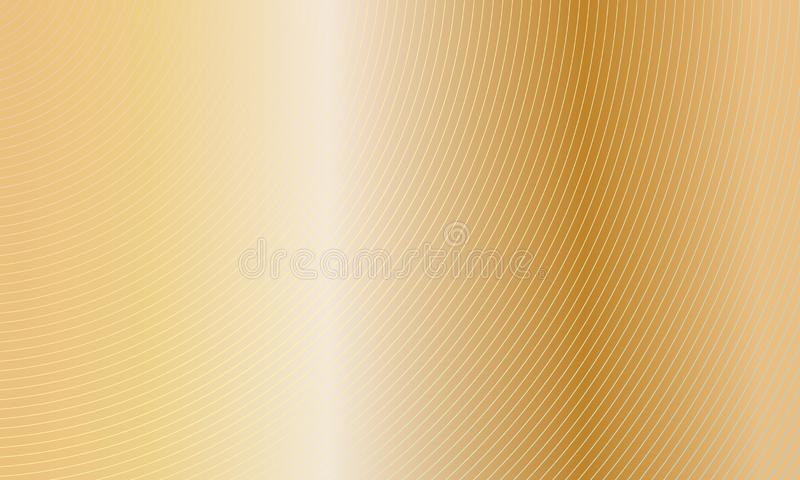 Abstract gold background with lines and circles. Vector illustration. EPS10 royalty free stock images