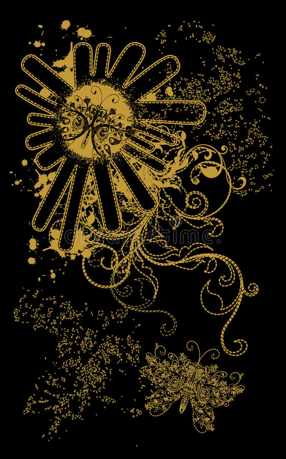 Download Abstract Gold Black Background Stock Image - Image: 26312011