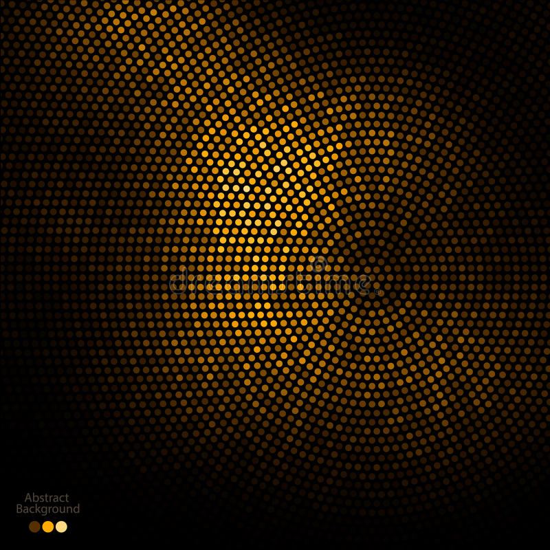 Abstract gold and black dots background royalty free illustration
