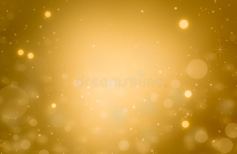 Abstract gold bokeh defocused glitter texture christmas with light bokeh background. New year vector illustration