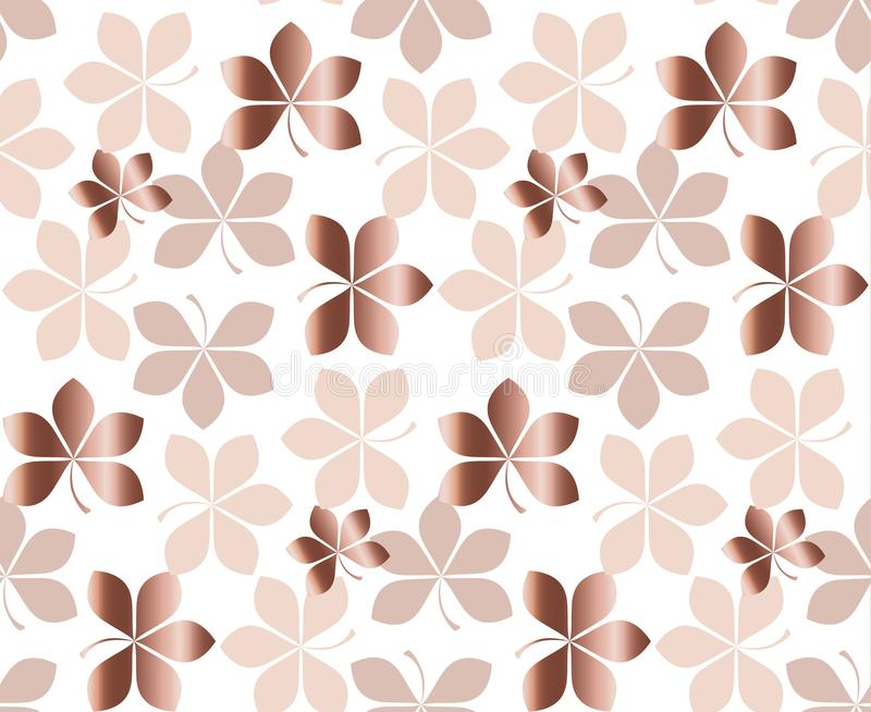 Abstract gold fall leaves pattern vector illustration. tender elegant celebration style decorative seamless pattern. background d. Esign vector illustration