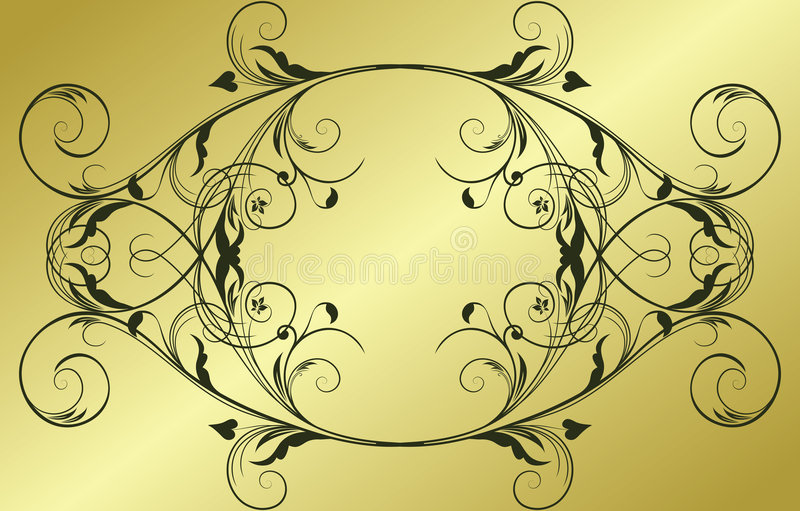 Abstract gold frame royalty free illustration