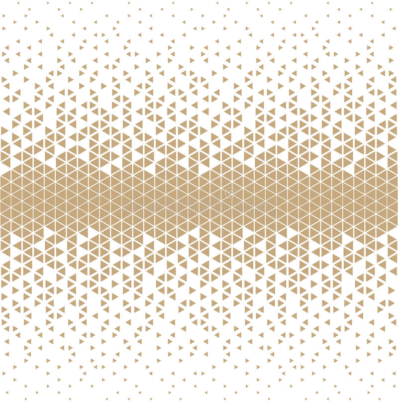 Abstract gold geometric hipster fashion design print triangle pattern. Background royalty free illustration