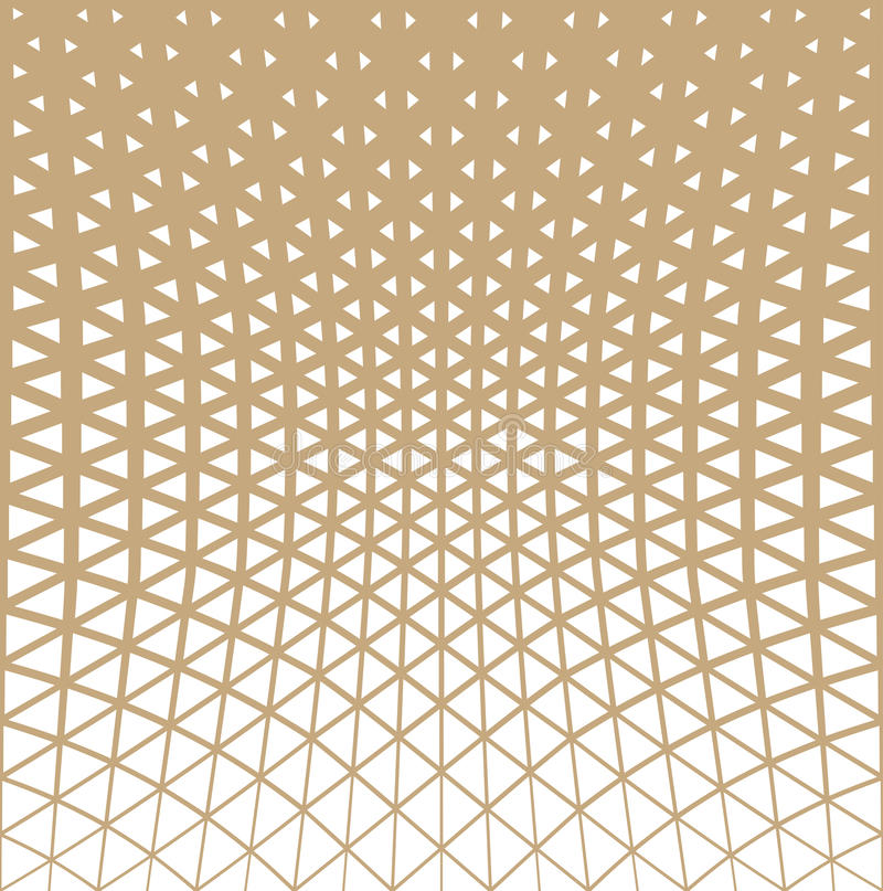 Abstract gold geometric triangle design halftone pattern. Background vector illustration