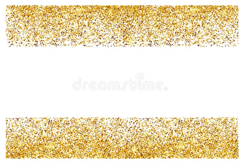 Abstract gold glitter background. Bright sparkles for card royalty free stock image