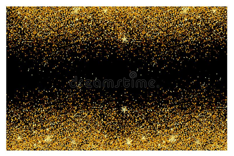 Abstract gold glitter background. Shiny sparkles for card royalty free stock photo