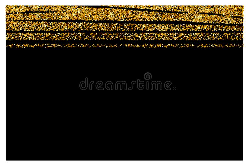 Abstract gold glitter background. Shiny sparkles for card vector illustration