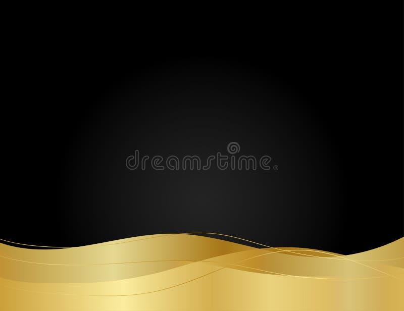 Abstract gold line luxury on dark modern design background vector illustration vector illustration