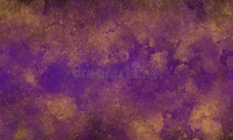 Abstract gold and purple colors texture design background. Abstract gold and purple colors texture graphic design background stock illustration