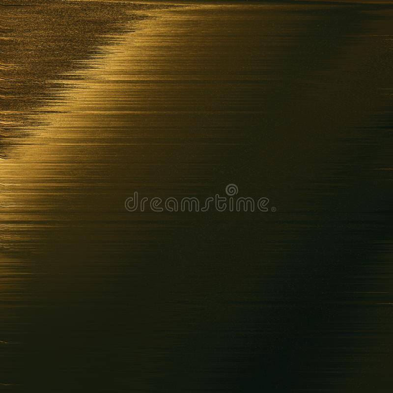 Abstract gold strokes on surface. Contrast tinted digital paper. Grunge background for poster, decor, interiors. royalty free illustration