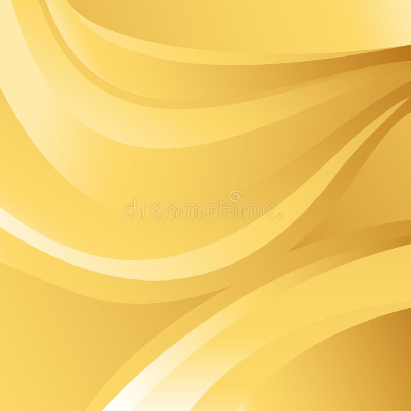 Abstract Gold Wave Background Vector. An image of a Abstract Gold Wave Vector Background stock illustration