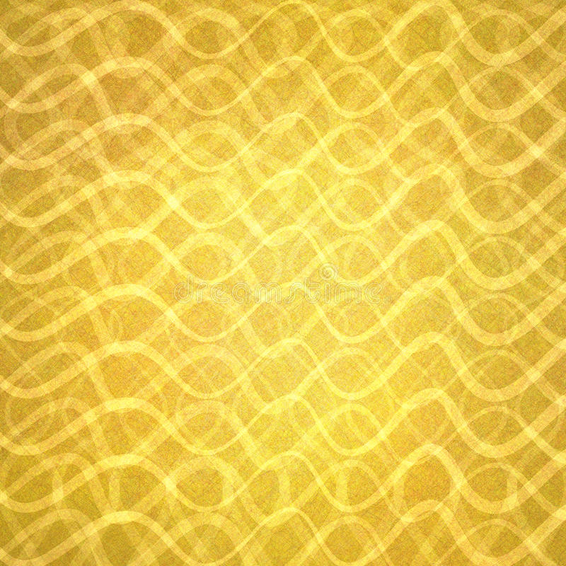 Abstract gold with wavy layers of lines in abstract pattern, luxury gold background design stock photo