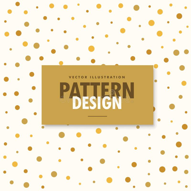 Abstract gold and white pattern background stock illustration