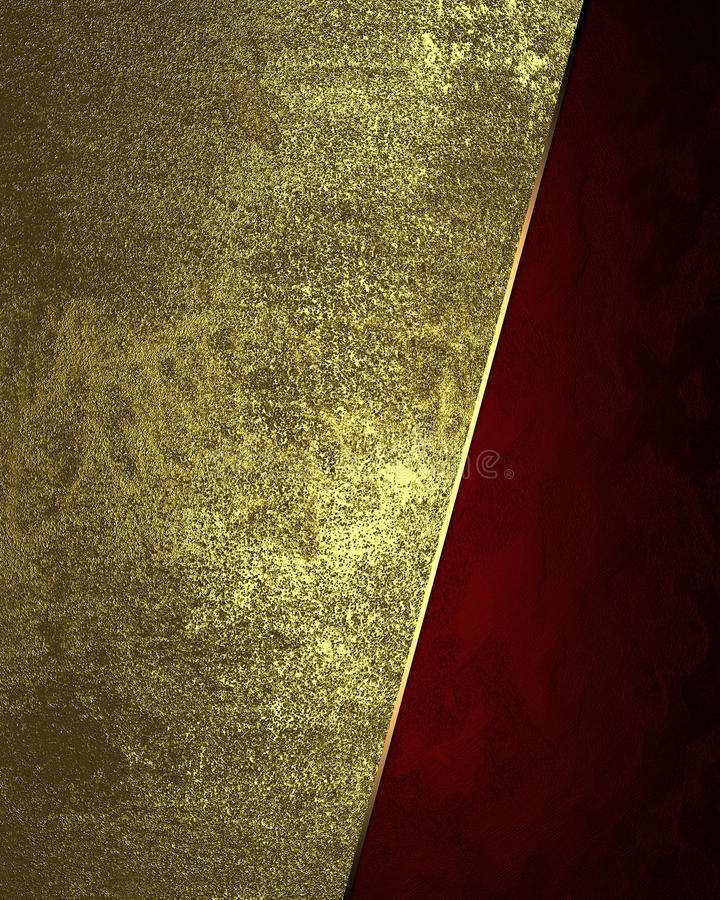 Abstract golden background with red edge. Element for design. Template for design. copy space for ad brochure or announcement invi. Tation, abstract background royalty free stock image