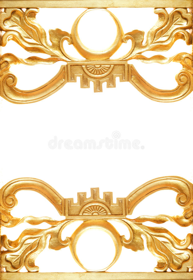 Abstract golden border stock image