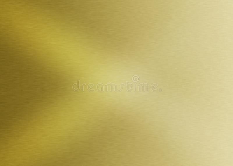 Gradated Shiny Brushed Golden Metal Surface for Abstract Background royalty free stock photography