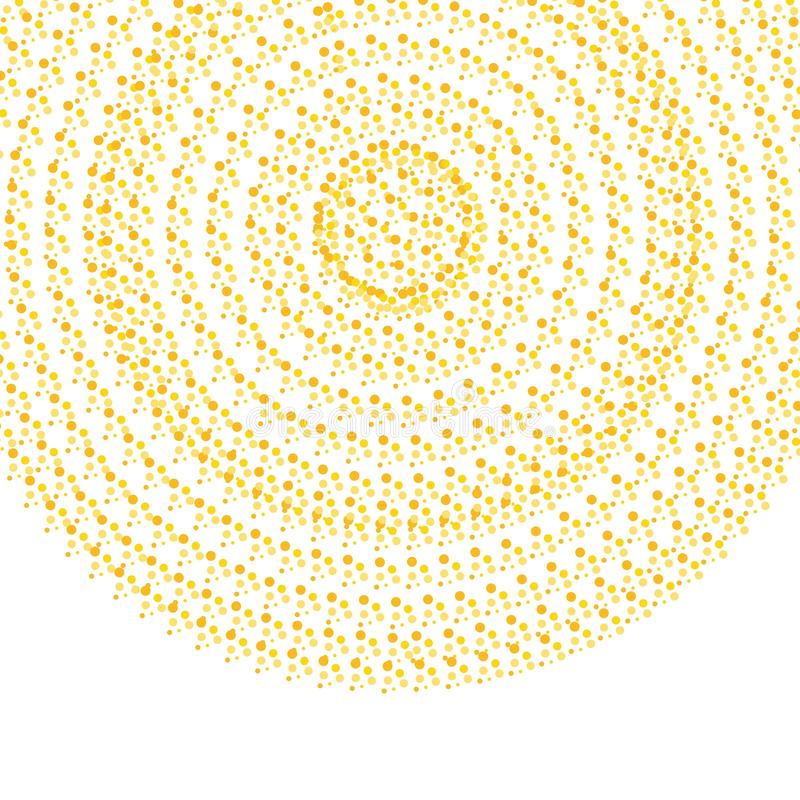 Abstract golden Circle Cofetti Background stock illustration