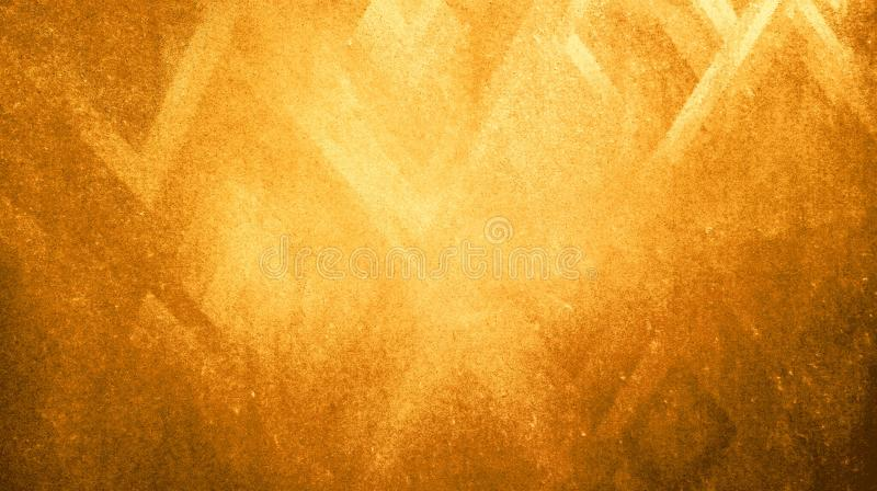 Abstract golden color rough dry sharpness triangles texture reflected on blue paper background wallpape. R. many uses for advertising, book page, paintings royalty free illustration